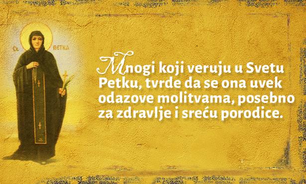 DANAS I VEČERAS MOLITE SE SVETOJ PETKI: Ove dve molitve obavezno izgovorite danas i verujte u njena čuda!