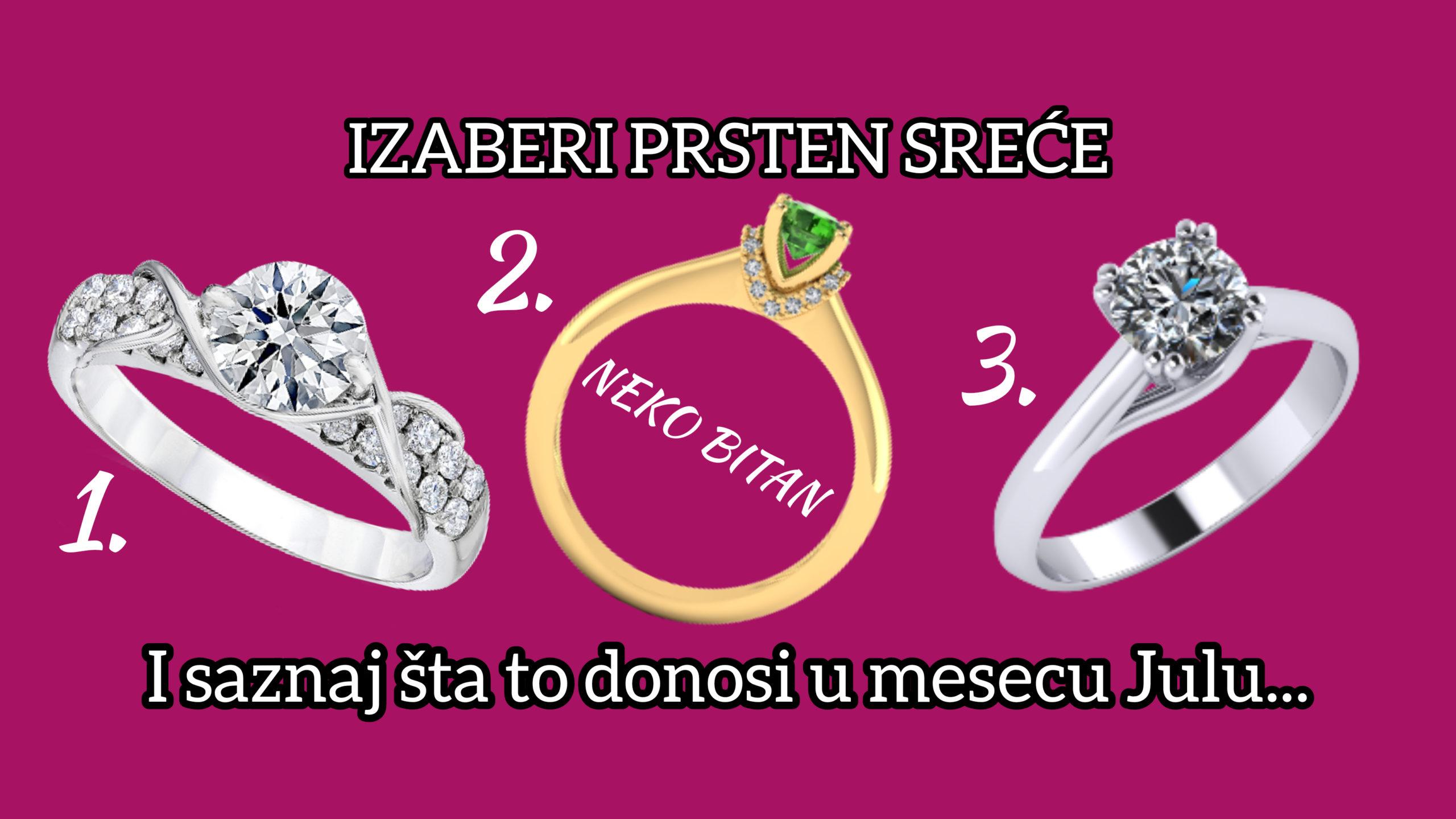 Onaj prsten koji izabereš otkriva šta ti donosi mesec JUL!